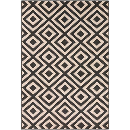 Alfresco Indoor/Outdoor Rug | Black & Cream | 8 Sizes