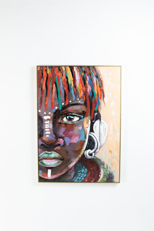 Native Girl Oil Painting