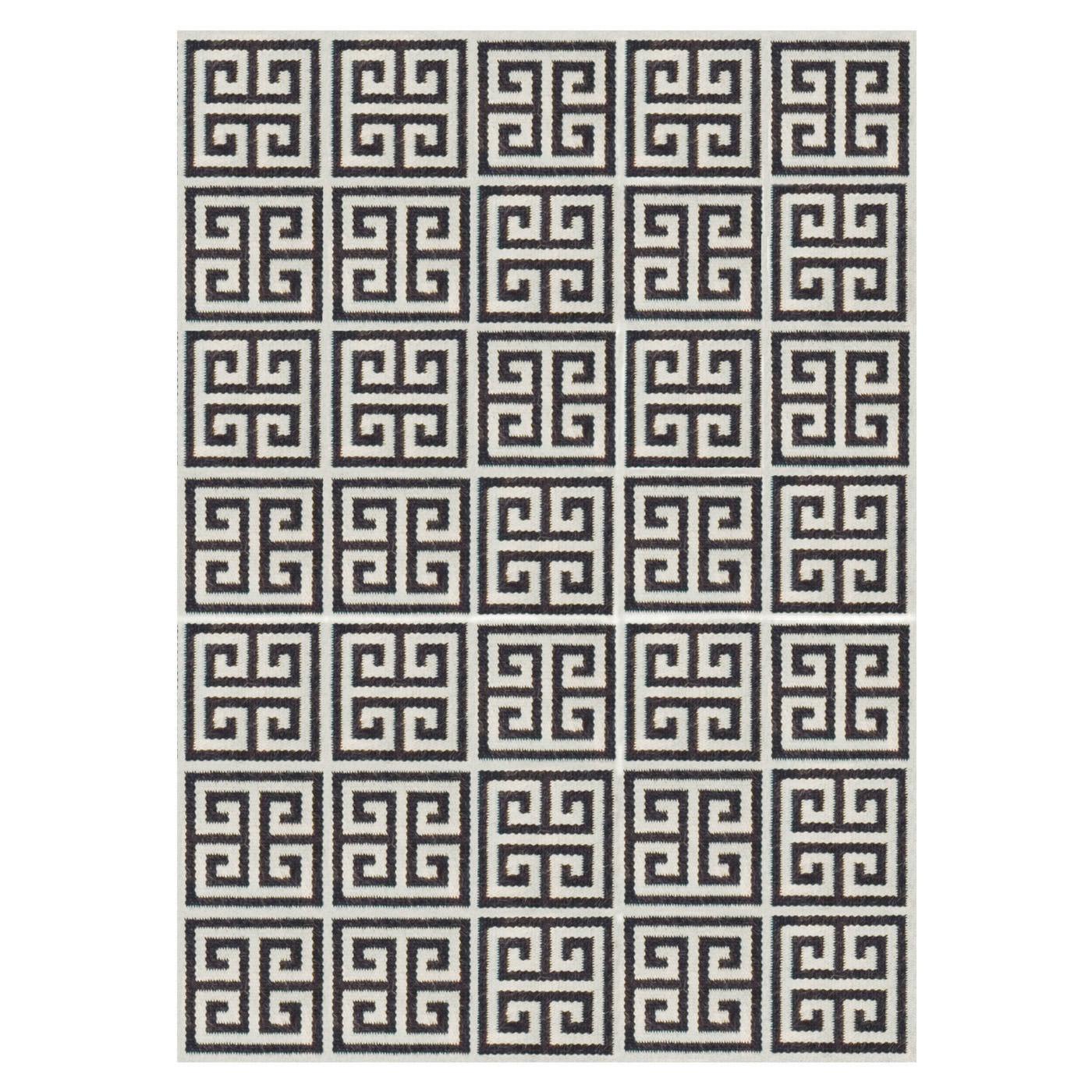 Greek Key Reversible 6' x 9' Rug | 3 Colors