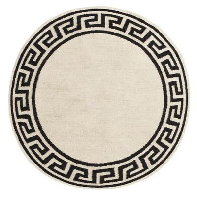Round Greek Key Border Reversible  Rug | 2 Sizes