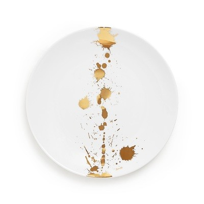 Jonathan Adler 1948 White and Gold Salad Plate / Set of 8