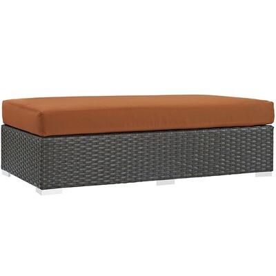 Soho Patio Rectangle Ottoman with Sunbrella® Cushion