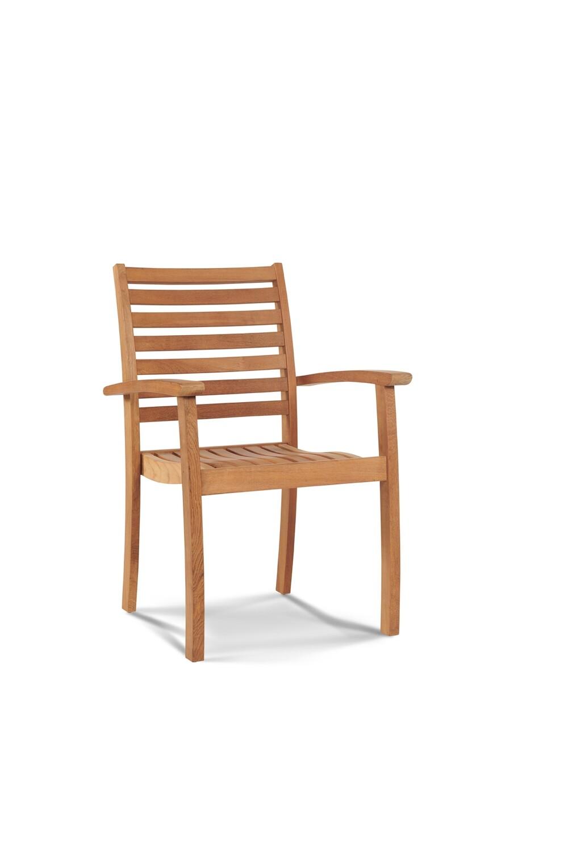 Royal Teak Stacking Armchair Set
