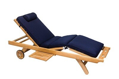 Teak Sunbrella Sun Lounger | Set of 2