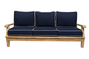 South Beach Teak Reclining Sofa