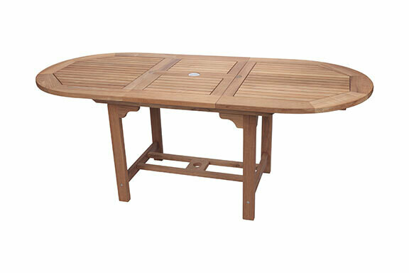 Teak Extendable Oval Dining Table    3 Sizes