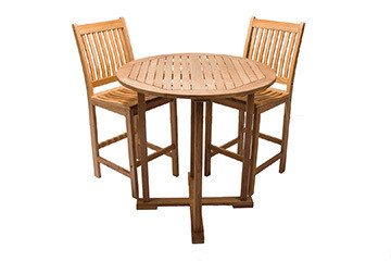 South Beach Teak Bar Table 5 Piece Set