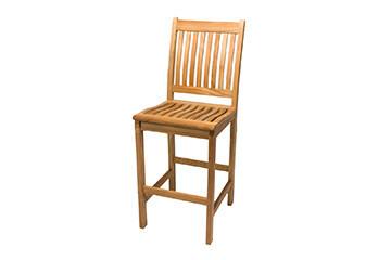 South Beach Teak Bar Chair   Set of 2