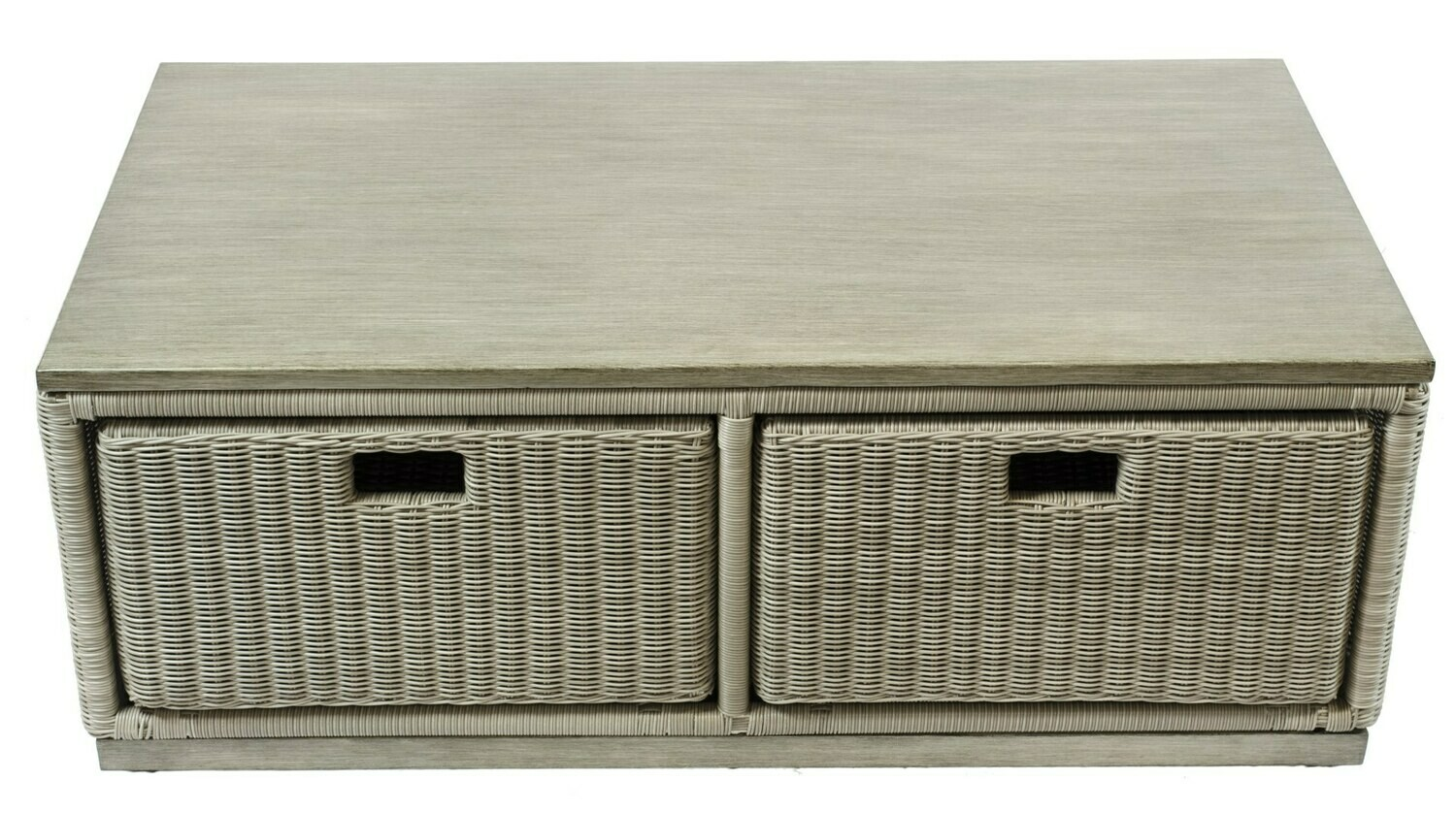 Ashland Wicker Collection Coffee Table with Storage