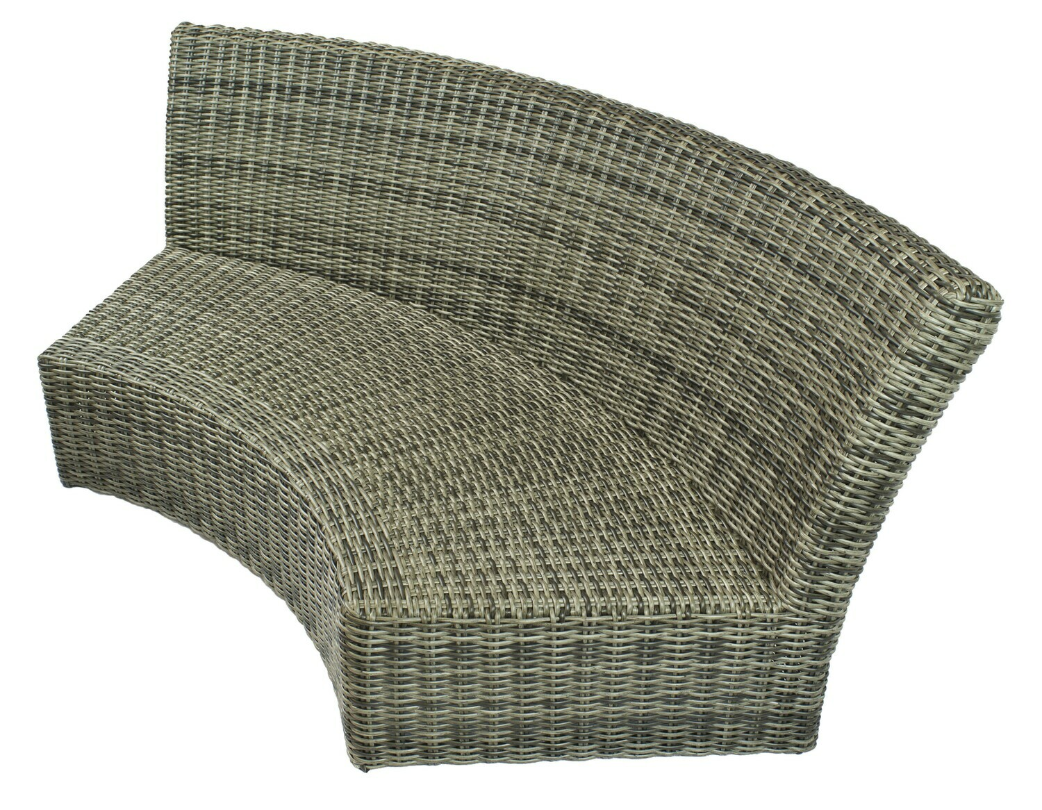 Allegro Wicker Collection Curved Sofa Section