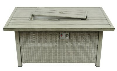 Ashland Wicker Collection Rectangle Fire Pit