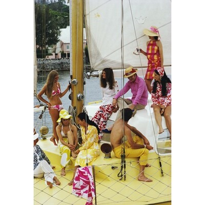 "Slim Aarons ""Colourful Crew"" Photograph | Jonathan Adler"