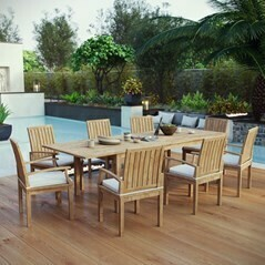 Belmont Harbor 9 Piece Table and Chairs