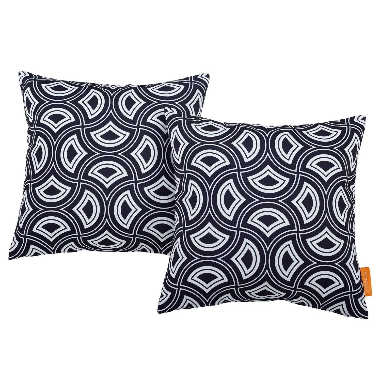 "Mask 2 Piece Outdoor Pillow Set 17"" x 17"""