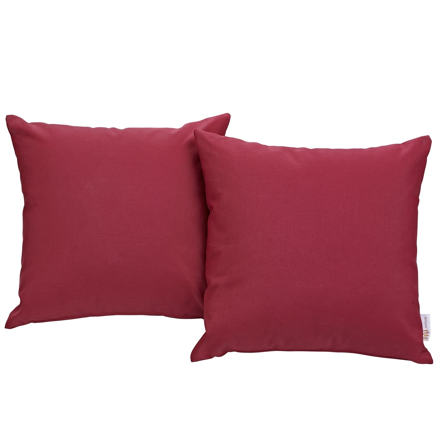 """Hinsdale Patio 2 Piece Pillow Set  17"""" x 17"""" in Red"""