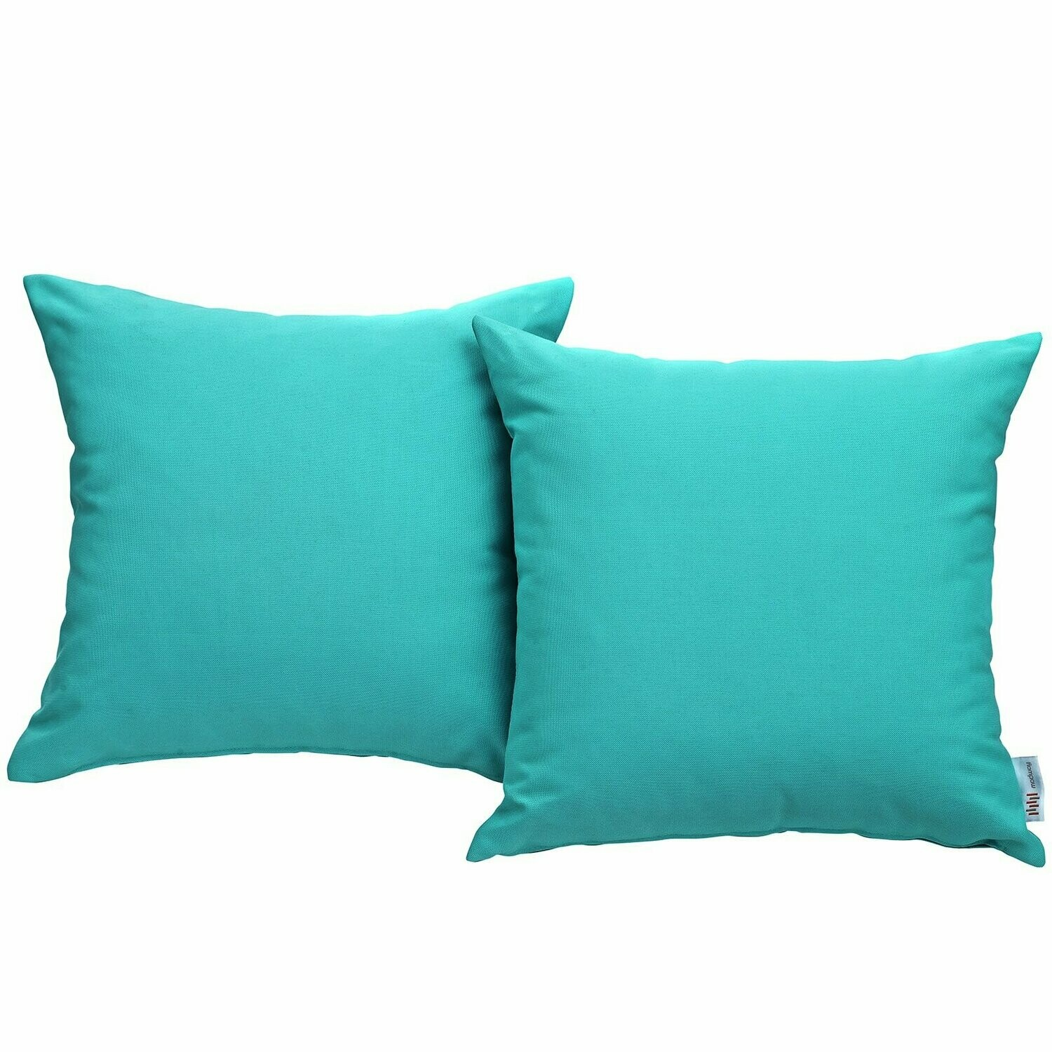 """Hinsdale Patio 2 Piece Pillow Set  17"""" x 17"""" in Turquoise"""