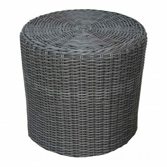 "Cove 20"" Fully Woven Drum-Shaped End Table"
