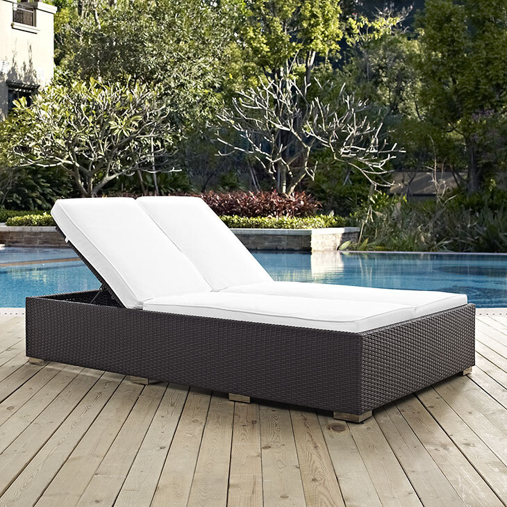 Hinsdale Patio Double Chaise Lounge | 6 Colors