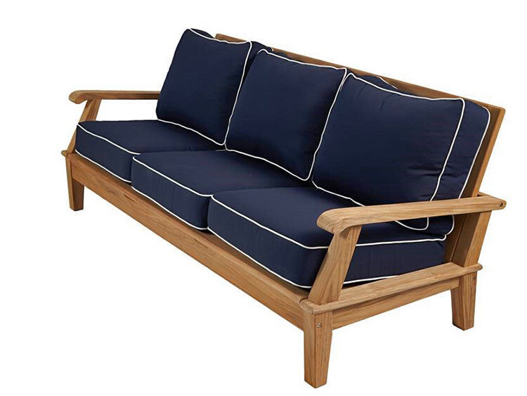 South Beach Teak Reclining Sofa