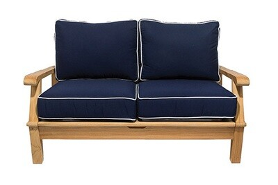 South Beach Teak Reclining Love Seat