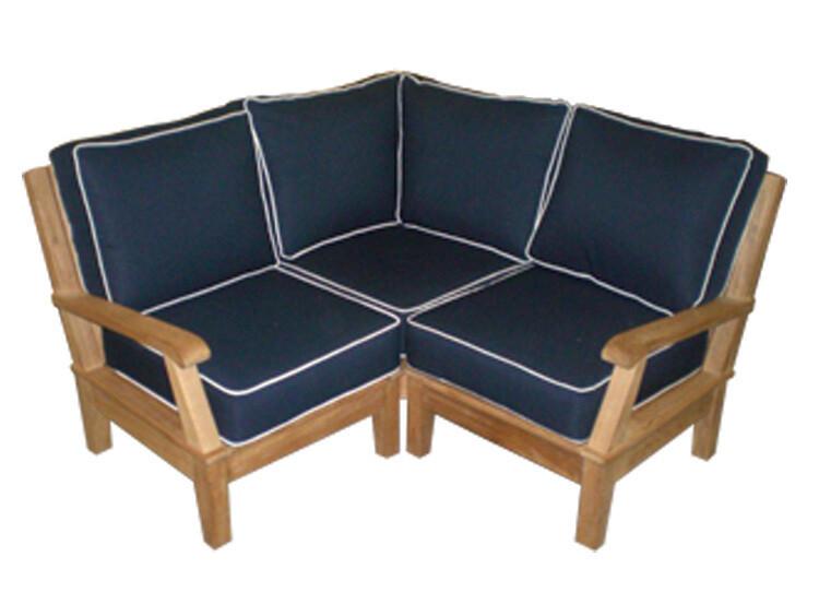 South Beach Teak Sectional Sofa Base Set