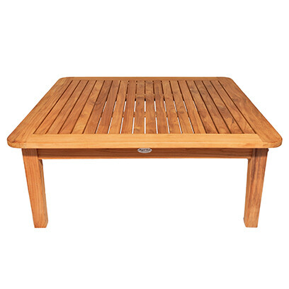 South Beach Teak Square Sofa Table