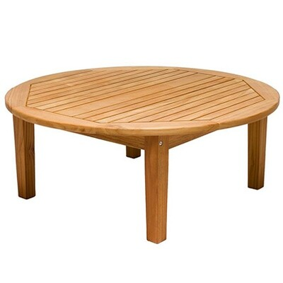 South Beach Teak Round Sofa Table