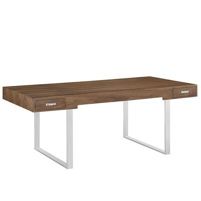 Trainer Office Desk / Walnut or Natural