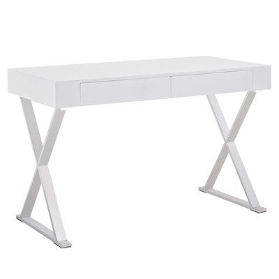 Madison Modern Office Desk in White