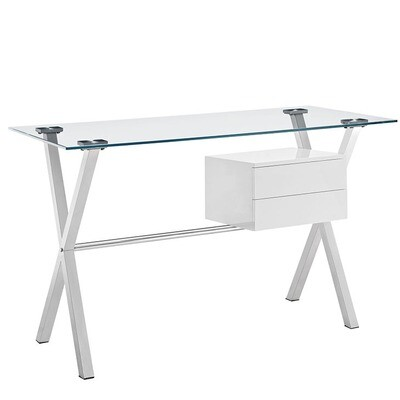 Glass Top office Desk