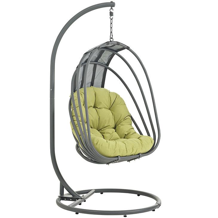 Whisk Hanging Swing Chair   Peridot Cushion