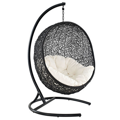 Enclave Swing Lounge Chair   Espresso & White
