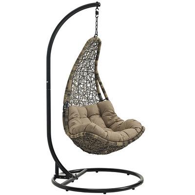 Resolve Swing Lounge Chair   Bronze  Mocha Cushion