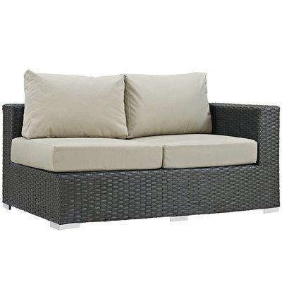 Soho Patio Right Arm Loveseat with Sunbrella® Cushion