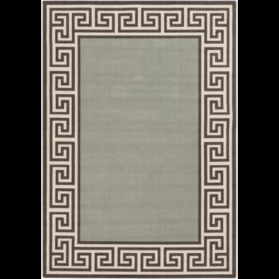 Alfresco  Indoor/Outdoor Area Rug | 7 Sizes | Geometric Trim