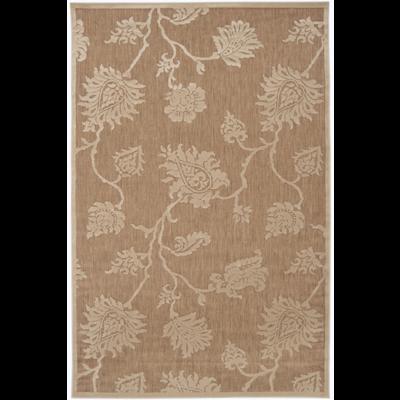 Portera Indoor/Outdoor Rug | 4 Sizes | Beige & Ivory