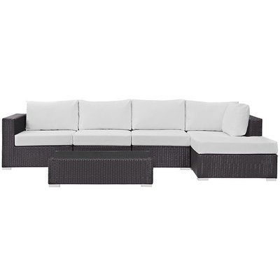 Hinsdale Patio 5 Piece Sectional Set
