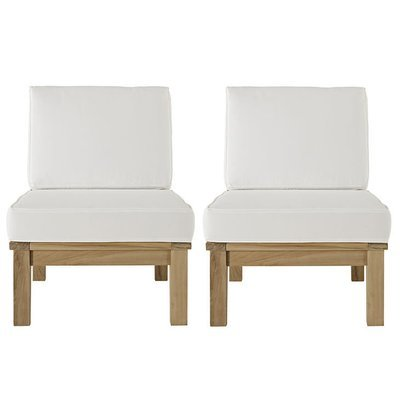Belmont Harbor Sectional Sofa Armless Seat   Set of 2