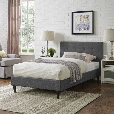 Lissa Fabric Twin Bed | 6 Colors