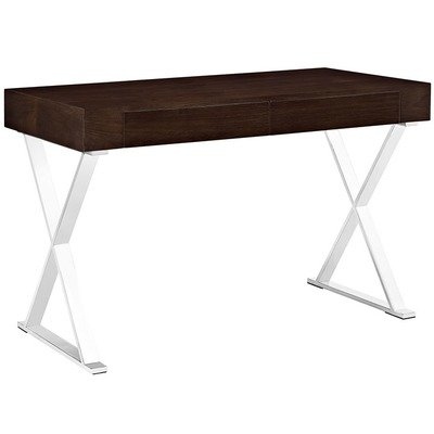 Madison Modern Office Desk in Walnut