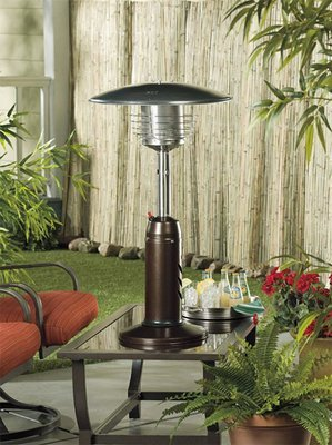 Tabletop Heater / Bronze Hammered Finish
