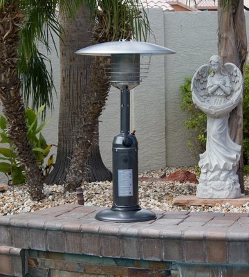 Tabletop Heater / Silver Hammered Finish