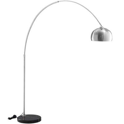 Willow Floor Lamp with Black Marble Round Base
