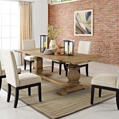 Farmhouse Extendable Wood Dining Table