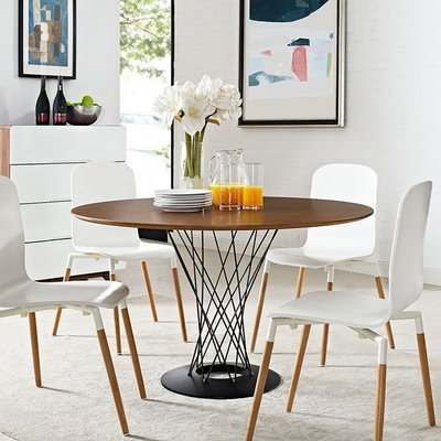 Hub Wood Top Dining Table / Walnut