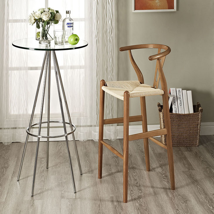 Acorn Wood  Bar Stool / Brown or Black