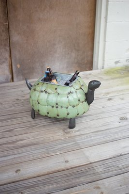 Recycled Metal Tortoise Planter / Drink Tub