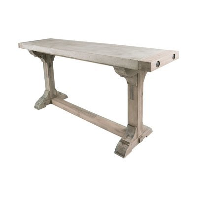 Pirate Concrete and Wood Console Table