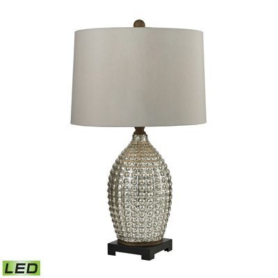 Reverse Hammered Glass Table Lamp