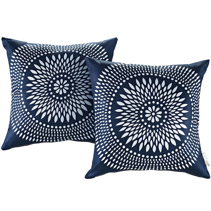 "Cartouche 2 Piece Outdoor Pillow Set 17"" x 17"""